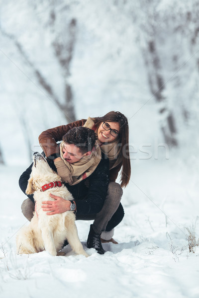 Stockfoto: Winter · park · cute · jonge