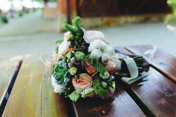 Ramo de la boda banco cerca vista textura aumentó Foto stock © tekso