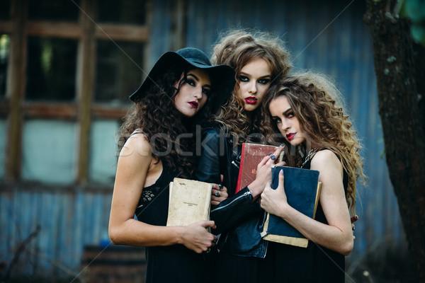 3  ヴィンテージ 女性 ポーズ 捨てられた 建物 ストックフォト © tekso