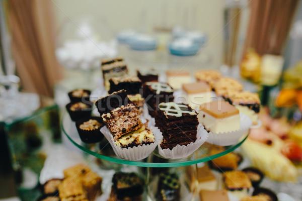 şeker bar düğün töreni farklı içkiler Stok fotoğraf © tekso