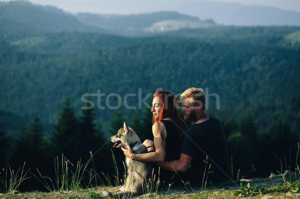 фото пару гор красивой Постоянный холме Сток-фото © tekso