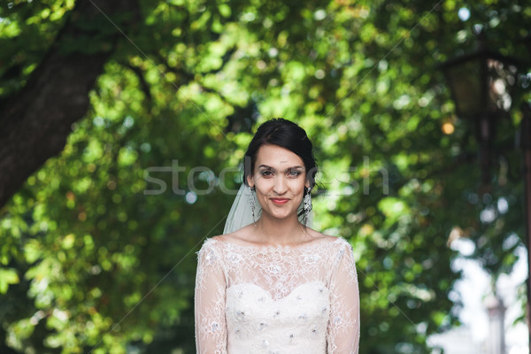 Stock photo: young beautiful bride