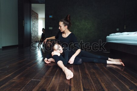 Mom and two daughters spend time together Stock photo © tekso