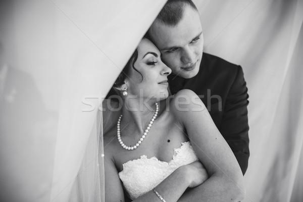 Vorbereitung liebenswert Braut schönen Party Stock foto © tekso