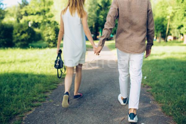 человека женщину ходьбе парка стороны девушки Сток-фото © tekso
