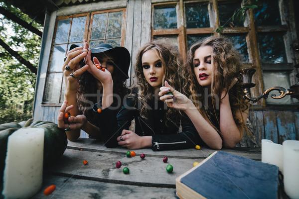 Három klasszikus mágikus szertartás dob édes Stock fotó © tekso