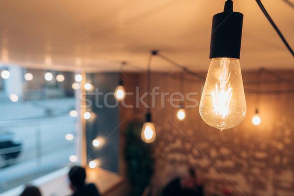 Brucia lampada decorativo spirale sfondo Foto d'archivio © tekso