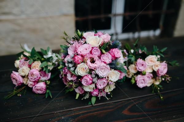 Wedding bouquet with roses Stock photo © tekso