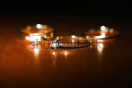 Nice wedding rings Stock photo © tekso