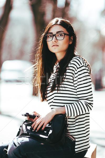 beautiful girl posing Stock photo © tekso