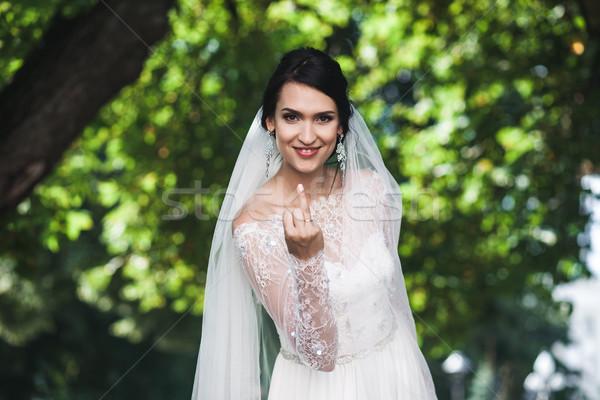 молодые красивой невеста женщину девушки лес Сток-фото © tekso