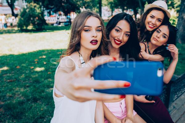четыре красивой молодые девочек красоту Сток-фото © tekso