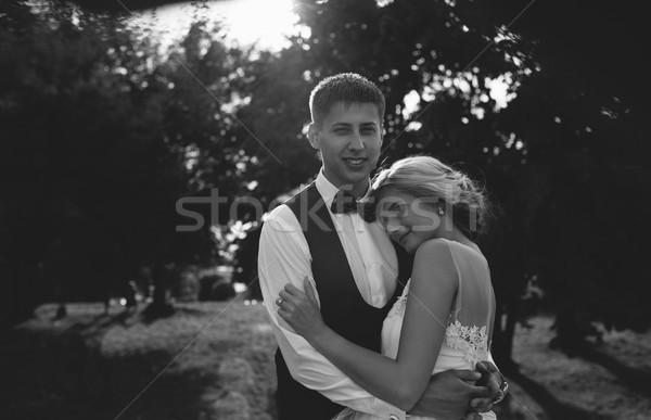 Hermosa boda Pareja parque cámara Foto stock © tekso
