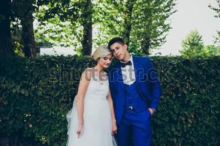 Girl and boy posing Stock photo © tekso