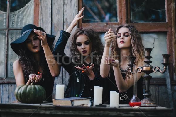 Três vintage magia ritual doce Foto stock © tekso
