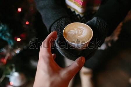 Kahve sevmek birisi sıcak içecek yeni Stok fotoğraf © tekso
