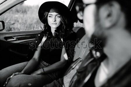 男 女性 手をつない 手 街 ストックフォト © tekso