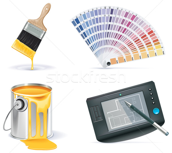 Vector Homebuilding & Renovating icon set. Part 2 Stock photo © tele52
