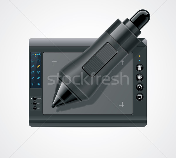 Vector graphic tablet icon Stock photo © tele52