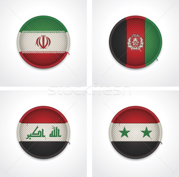 Bandeiras países tecido conjunto detalhado Foto stock © tele52