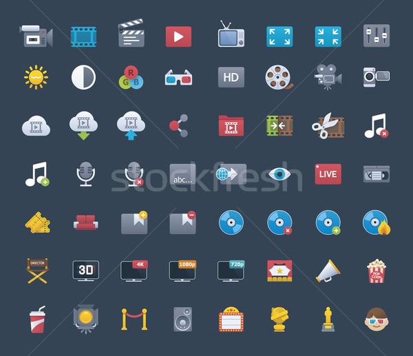 Video icon set Stock photo © tele52