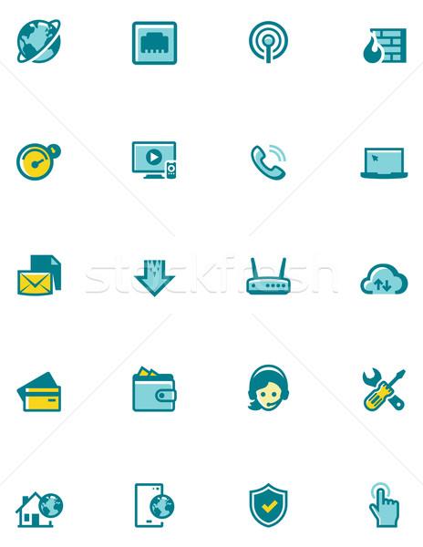 Vector internet service provider icon set Stock photo © tele52