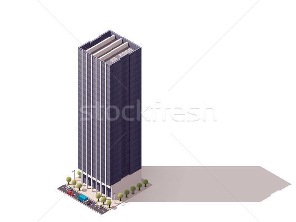 Stock photo: Vector isometric building
