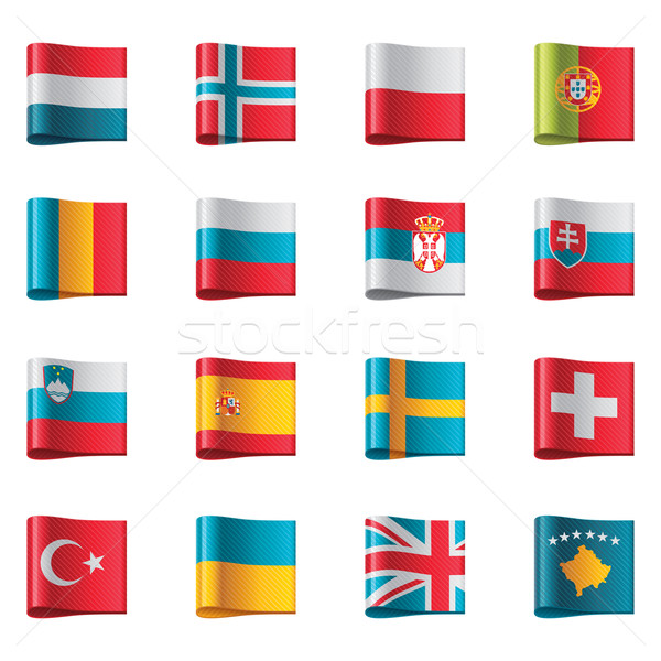 Vector flags. Europe, part 3 Stock photo © tele52