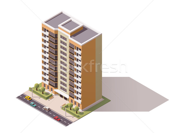 Stock photo: Vector isometric building