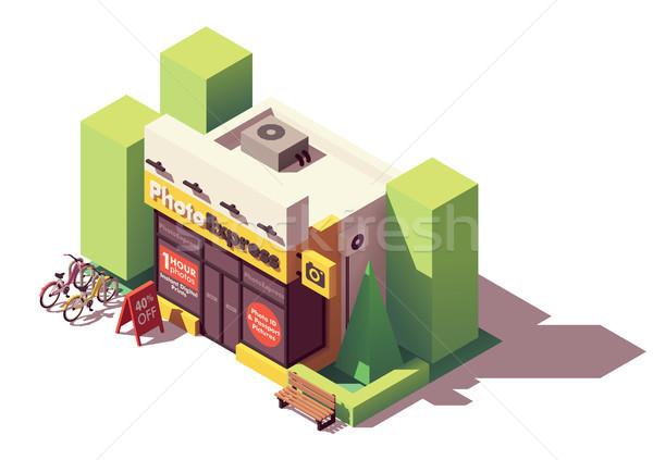 вектора изометрический фото печати магазин здании Сток-фото © tele52