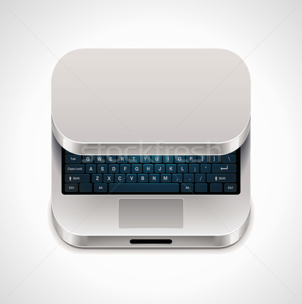 Stock photo: Vector square laptop icon