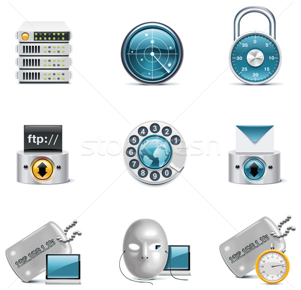 Vector internet and network icons. Part 3 Stock photo © tele52