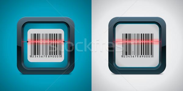 Wektora kodów kreskowych skaner ikona placu qr code Zdjęcia stock © tele52
