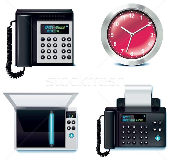 Foto stock: Vetor · escritório · conjunto · negócio · trabalho · de · escritório