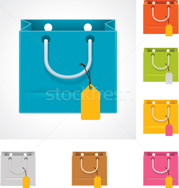 Vector shopping bag Stock photo © tele52