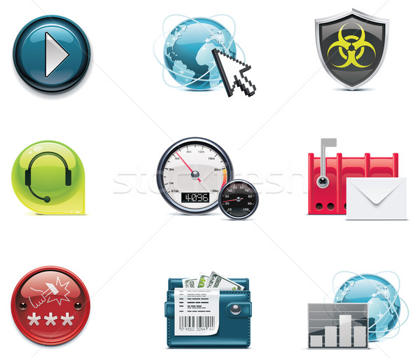 Vector internet and network icons. Part 2 Stock photo © tele52