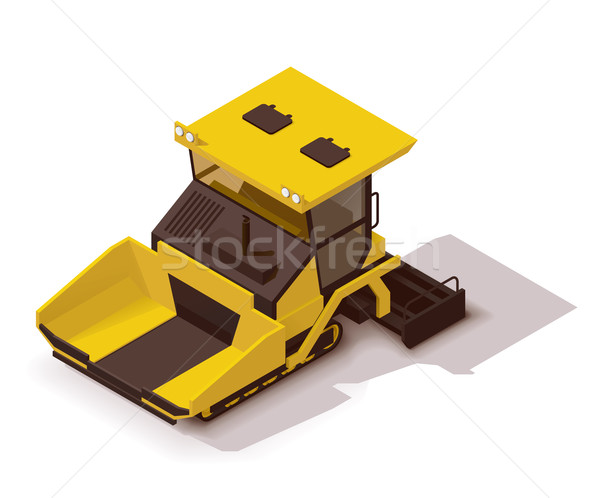 Vector isometric asphalt paver Stock photo © tele52