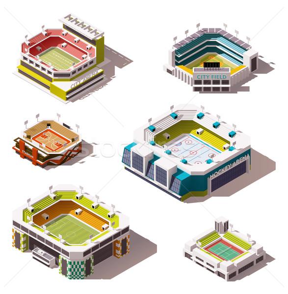 Vector isometric stadiums set Stock photo © tele52