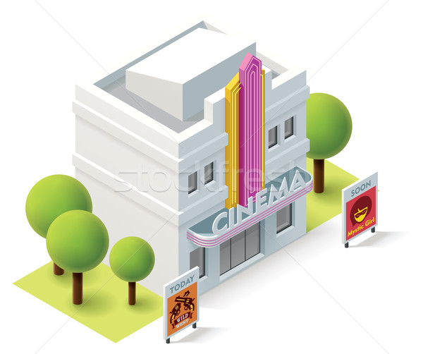 Vector isometric cinema Stock photo © tele52