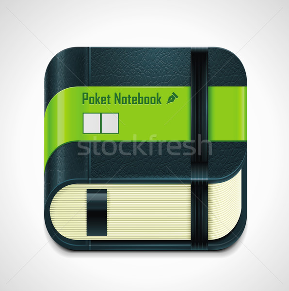 Vector notepad XXL icon	 Stock photo © tele52