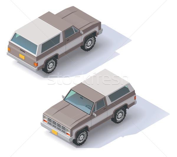 Vector isometric SUV Stock photo © tele52