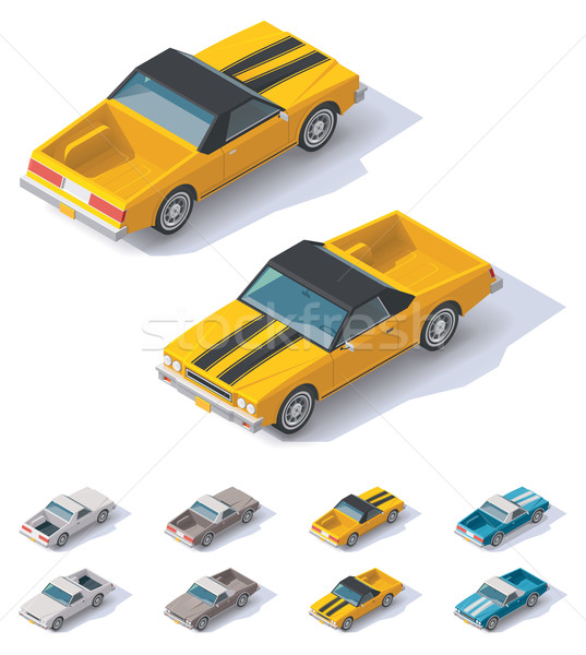 Vector isometric utility coupe car Stock photo © tele52