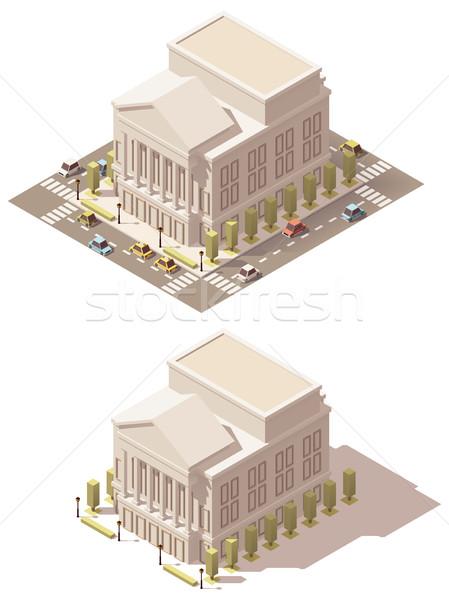 вектора изометрический низкий опера дома театра Сток-фото © tele52