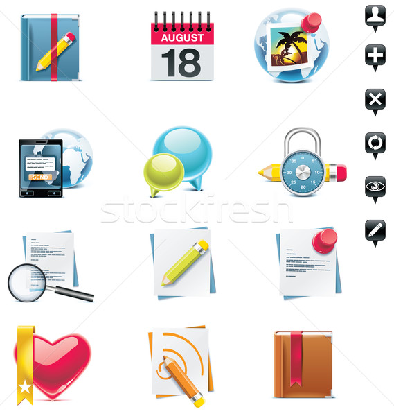 Vector social media icon set. Part 2 Stock photo © tele52