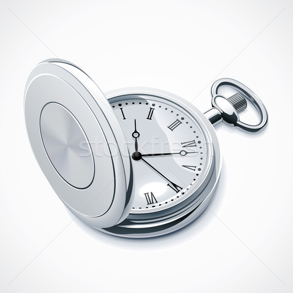 Vector pocket watch Stock photo © tele52