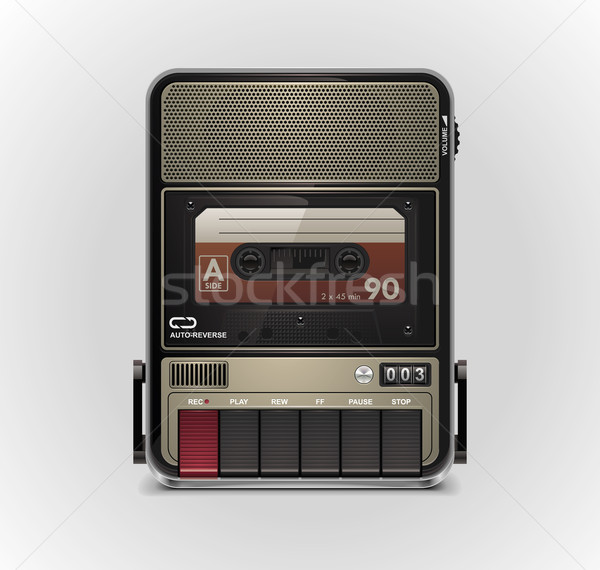 Vector cassette recorder XXL icon Stock photo © tele52