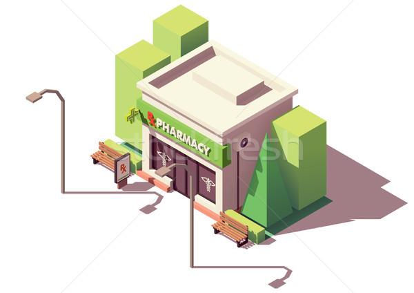 Vector farmacia farmacia tienda edificio Foto stock © tele52