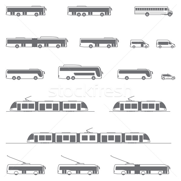 Vector public transport icons Stock photo © tele52