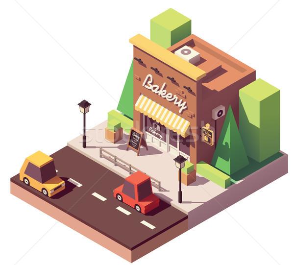 Vector isometric bakery shop Stock photo © tele52
