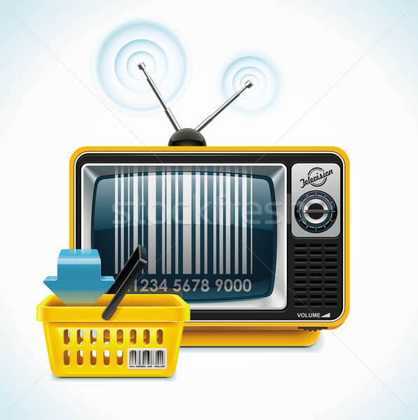 Stock photo: Vector TV shop XXL icon